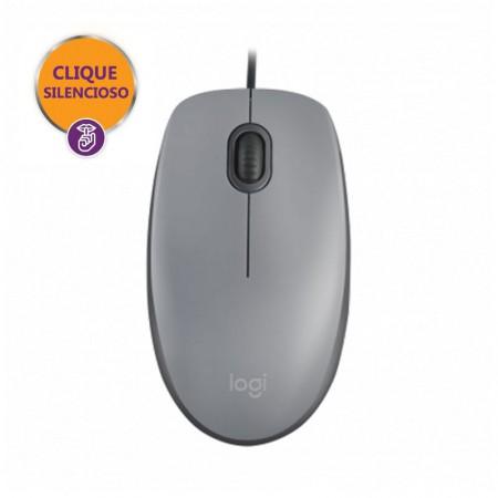 Mouse USB Silent óptico M110 cinza - Logitech