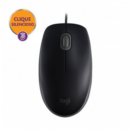 Mouse USB óptico M110 preto - Logitech