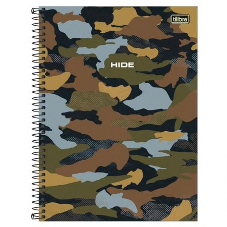 Caderno espiral capa dura universitário 10x1 - 160 folhas - Hide - 1 - Tilibra