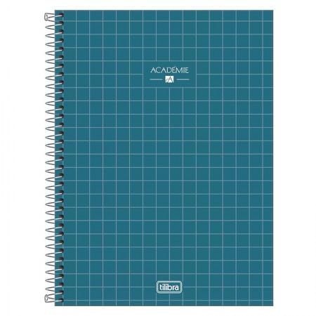 Caderno espiral capa dura universitário 10x1 - 160 folhas - Academie - Verde - Tilibra