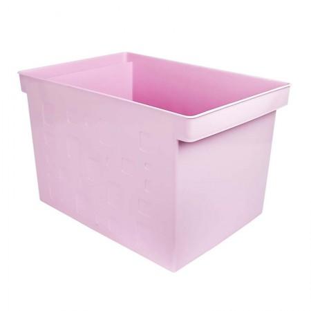 Caixa organizadora larga multiuso protêa - rosa pastel - 0335.WP - Dello