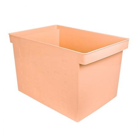 Caixa organizadora larga multiuso protêa - laranja pastel - 0335.MP - Dello