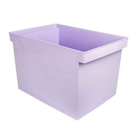 Caixa organizadora larga multiuso protêa - lilás pastel - 0335.LP - Dello