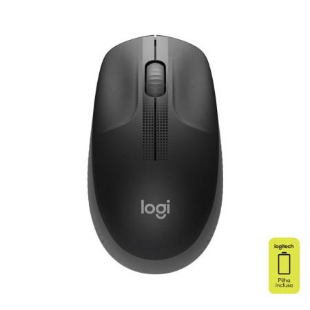Mouse sem fio M190 cinza - Logitech