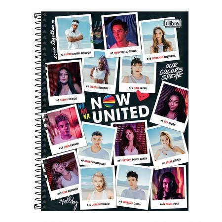 Caderno espiral capa dura universitário 10x1 - 160 folhas - Now United - 4 - Tilibra