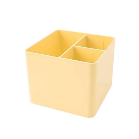 Porta objetos com 3 divisórias - amarelo pastel - 3020.AP - Dello