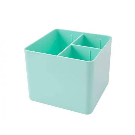 Porta objetos com 3 divisórias - verde pastel - 3020.VP - Dello