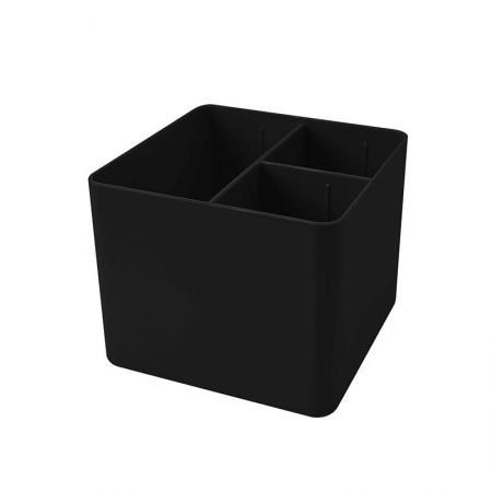 Porta objetos com 3 divisórias - preto - 3020.P - Dello
