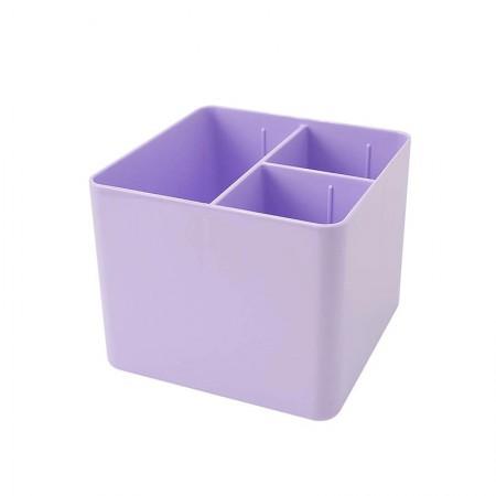 Porta objetos com 3 divisórias - lilás pastel - 3020.LP - Dello