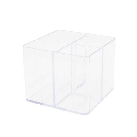 Porta objetos com 3 divisórias - cristal - 3020.H - Dello