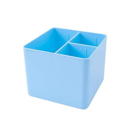 Porta objetos com 3 divisórias - azul pastel - 3020.BP - Dello