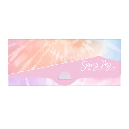 Estojo escolar plástico simples - Tie Dye Sunny Day - Rosa - 8803.02 - Dello