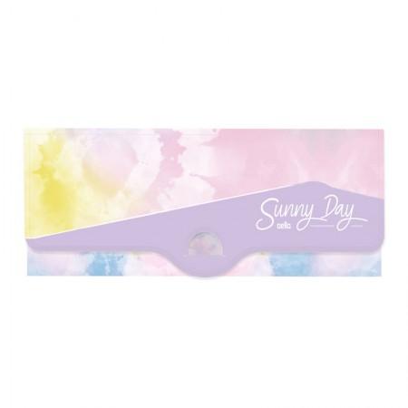 Estojo escolar plástico simples - Tie Dye Sunny Day - Lilás - 8803.01 - Dello