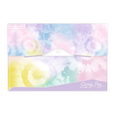 Pasta sanfonada A4 com 12 divisórias - Tie Dye Sunny Day - Lilás - 6100.01 - Dello