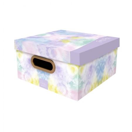 Caixa organizadora média Tie Dye - sunny day lilás - 2220.01 - Dello