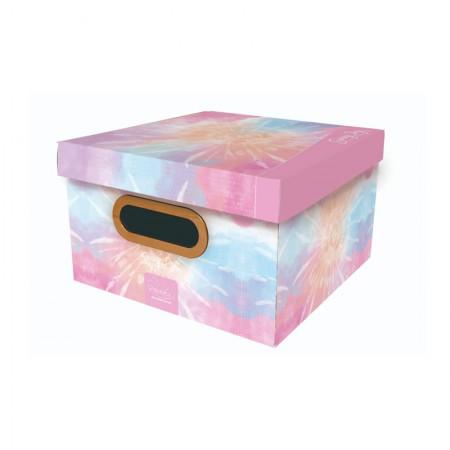 Caixa organizadora pequena Tie Dye - sunny day rosa - 2219.02 - Dello