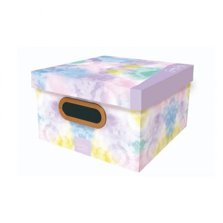 Caixa organizadora pequena Tie Dye - sunny day lilás - 2219.01 - Dello