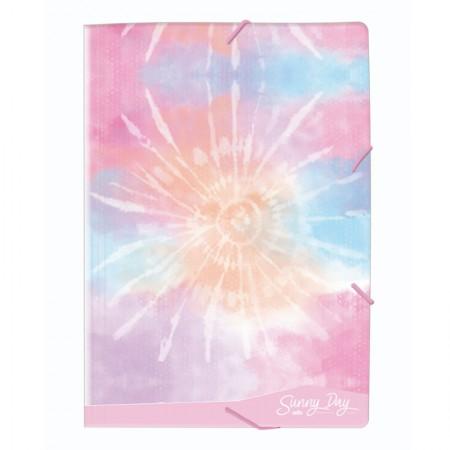 Pasta com aba elástico ofício - Tie Dye Sunny Day - Rosa - 0230.02 - Dello
