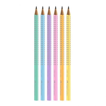 Lápis preto grip 2001 tom pastel Nr 2 - 2001BTP - 1 unidade - Faber-Castell