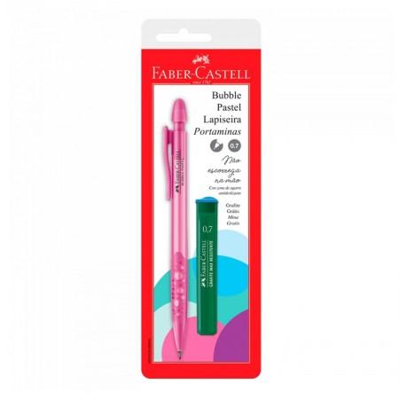 Lapiseira 0.7mm Bubble - Rosa pastel - SM/07BBRS - Faber-Castell
