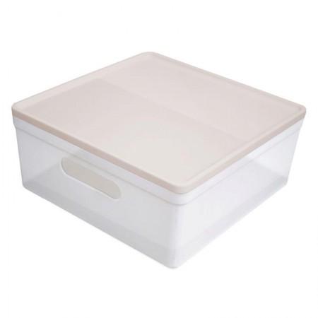Caixa organizadora média soul - cristal e rosa - 3082.HW2 - Dello