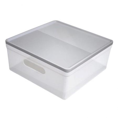 Caixa organizadora média soul - cristal e grafite - 3082.HG1 - Dello