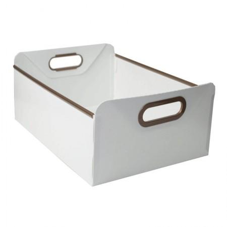 Caixa organizadora grande de despensa branco 2302.E - Dello