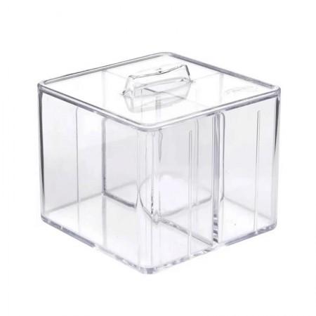 Organizador com tampa c/3 divisórias cristal 3075.H.0006CX - Dello
