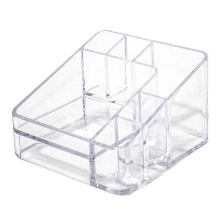 Organizador de cosméticos compacto c/6 divisórias cristal 3074.H.0012CX - Dello