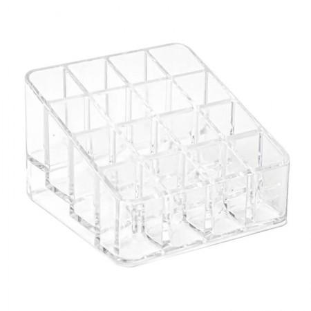 Organizador de cosméticos compacto c/16 divisórias cristal 3071.H.0012CX - Dello