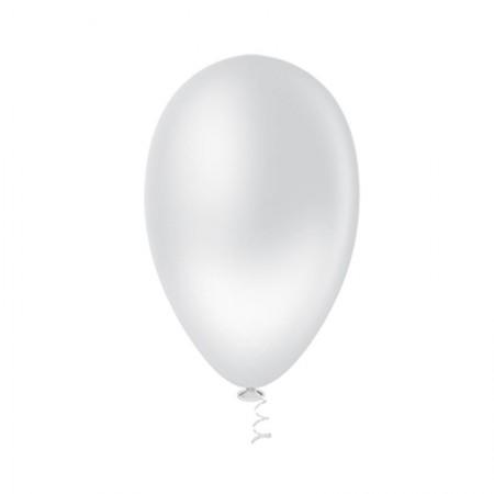 Bexiga branco número 7 Riberball 50unid - Pic Pic