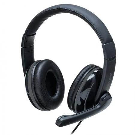 Headset Pro P2 Preto e Cinza com adaptador PH316 - Multilaser