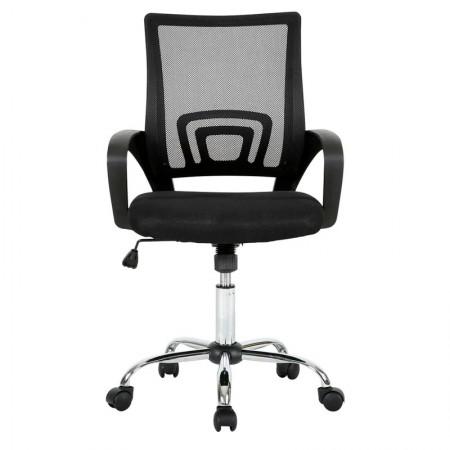 Cadeira executive cromada giratória preta GA197 - Multilaser