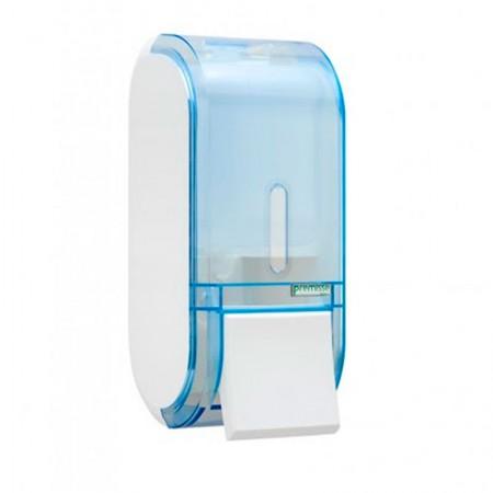 Saboneteira glass compacta azul com reservatório - C19304 400ml - Premisse