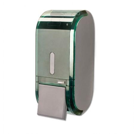 Saboneteira glass compacta verde com reservatório C19303 400ml - Premisse
