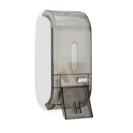 Saboneteira glass compacta fume com reservatório C19313 400ml - Premisse