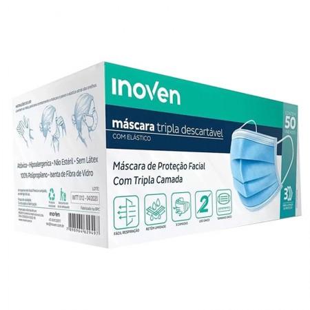 Mascara tripla cirúrgica - com 50 unidades