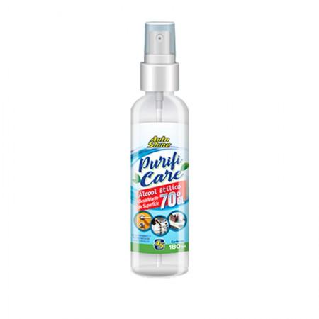 Álcool Spray 70ºgl Higienizador Purifi Care 180ml - Auto Shine