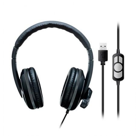 Headset USB preto e cinza - PH317 - Multilaser