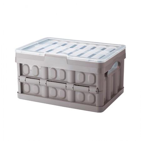 Caixa organizadora peq dobrável cinza 9702 Plasútil