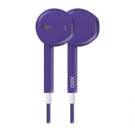 Fone de ouvido com microfone Colormood roxo - FN204/RO - Oex