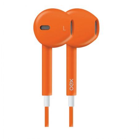 Fone de ouvido com microfone Colormood laranja - FN204/LJ - Oex