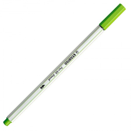 Caneta pincel Pen Brush Aquarelável - 568/33 - Verde Claro - Stabilo