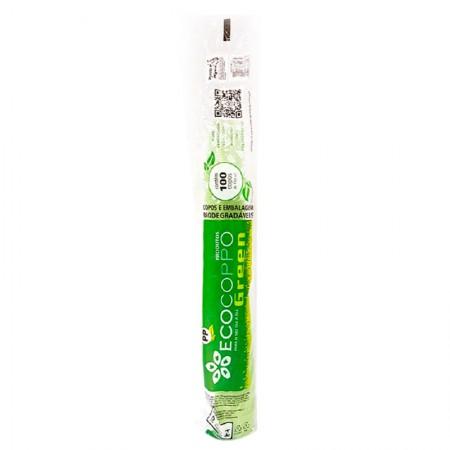 Copo plástico descartável Ecogreen 180ml - com 100 unidades - Altacoppo