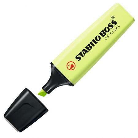 Pincel marca texto Boss Pastel - Limão - 70/133 - Stabilo