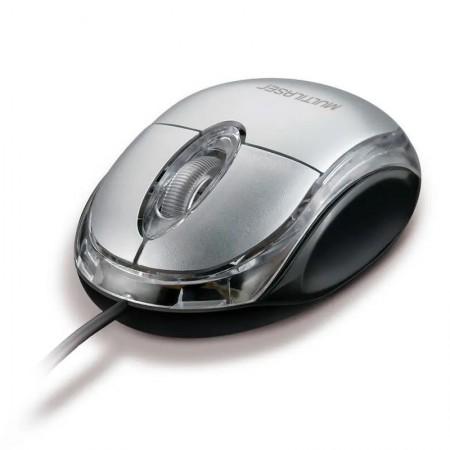 Mouse classic optico prata usb - MO006 - Multilaser
