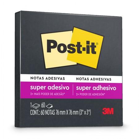 Bloco Post-it 654 - Preto - com 60 folhas - 3M