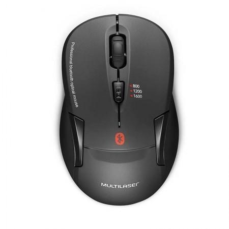 Mouse sem fio Bluetooth 1600dpi preto - MO254 - Multilaser