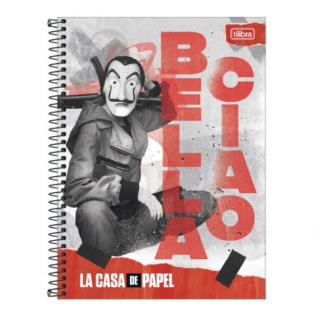Caderno espiral capa dura universitário 10x1 - 160 folhas - La Casa de Papel - 1 - Tilibra