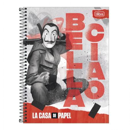 Caderno espiral capa dura universitário 1x1 - 80 folhas - La Casa de Papel - 1 - Tilibra